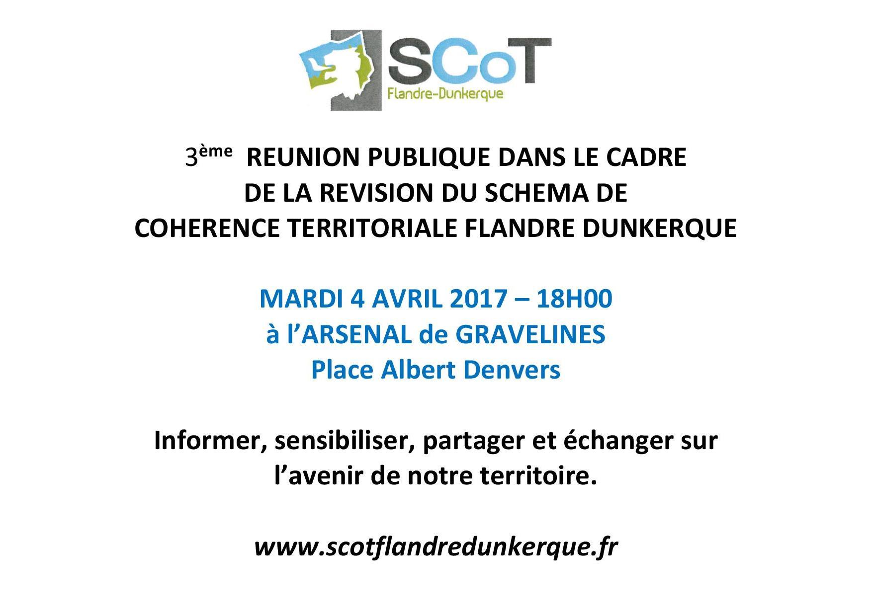 RÉUNION PUBLIQUE: RÉVISION DU SCOT FLANDRE-DUNKERQUE