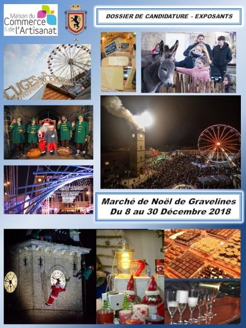 Vous souhaitez participer au Marché de Noël 2018 de Gravelines ?